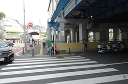 駅のロータリー