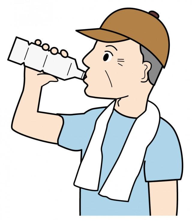 水分不足の男性