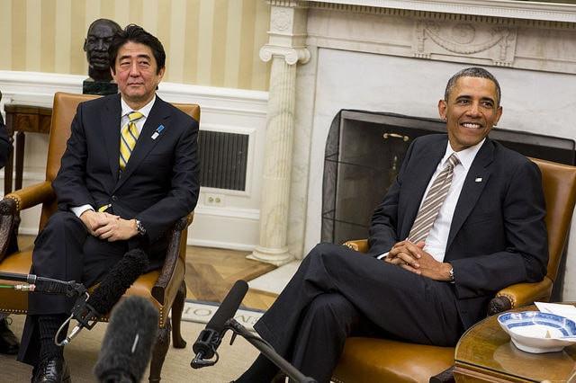 オバマさんと安倍晋三